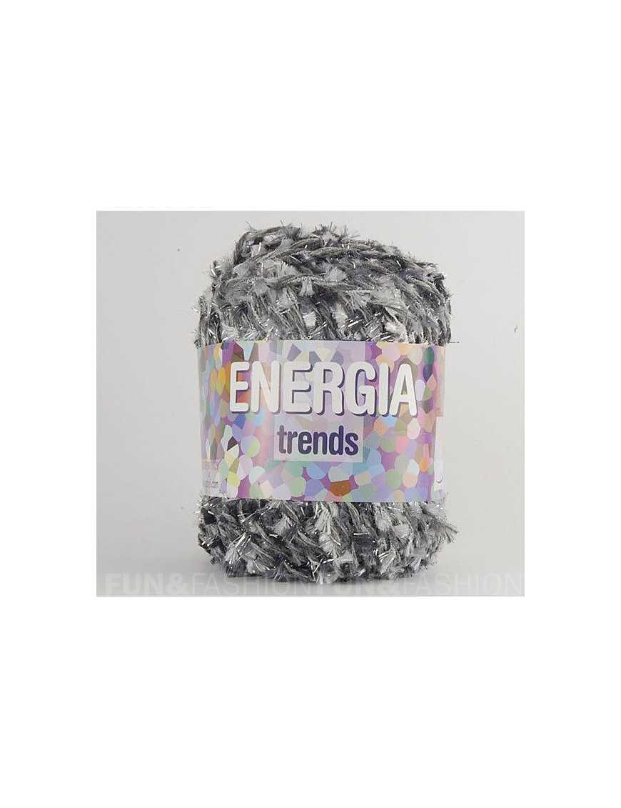 Yarn Energia grey black fancy 67
