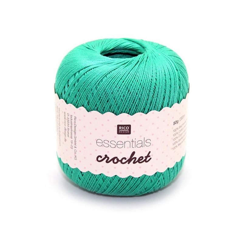 Fil pour crochet Rico Essentials crochet emerald 008
