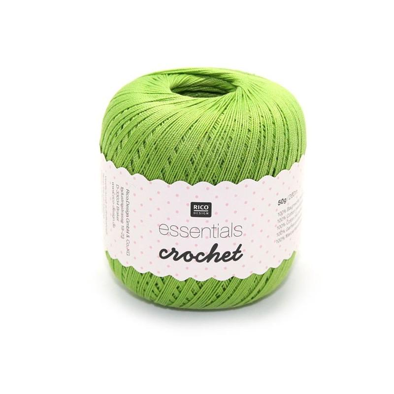 Fil pour crochet Rico Essentials crochet light green 009