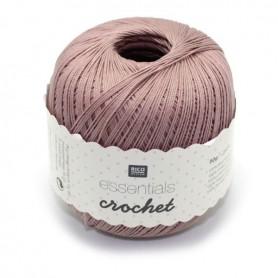 Fil pour crochet Rico Essentials crochet dusty rose 016