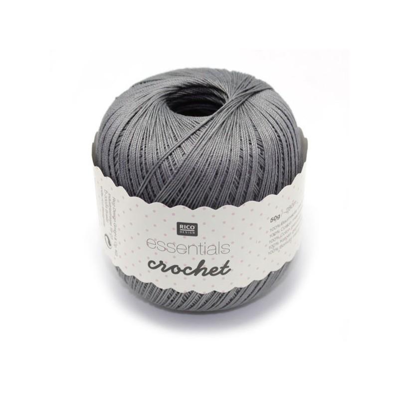 Fil pour crochet Rico Essentials crochet steel grey 019