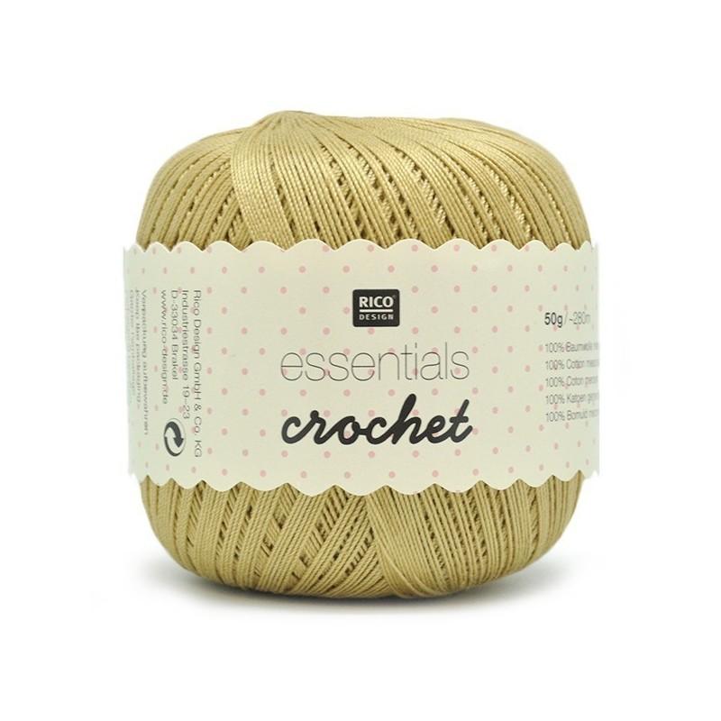 Fil pour crochet Rico Essentials crochet gold 025