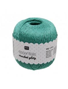 Fil pour crochet Rico Essentials crochet glitz emerald 006