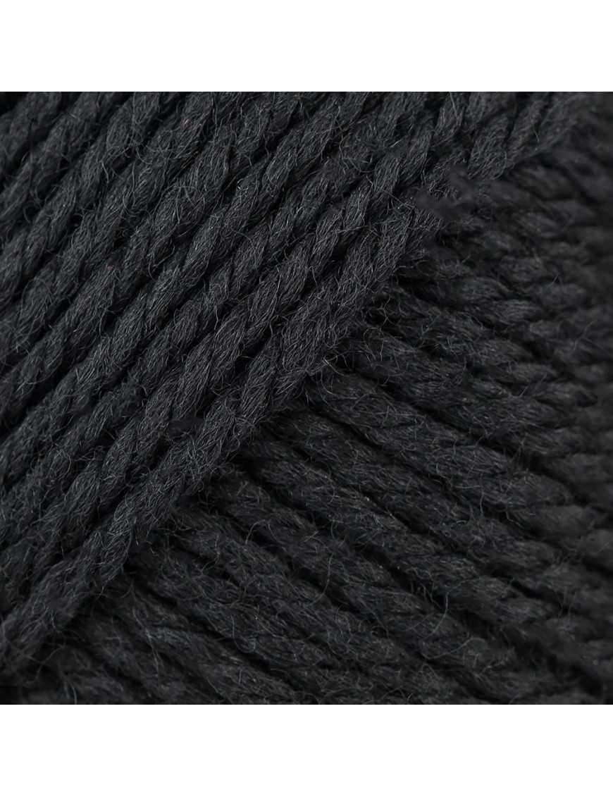 Yarn Rico soft Merino Aran black 090