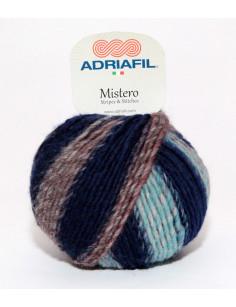 Adriafil Mistero Stripes blauw-bruin-rood 92