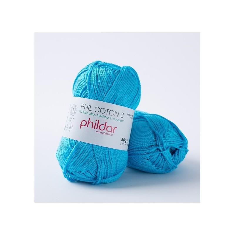 Crochet yarn Phil Coton 3 turquoise