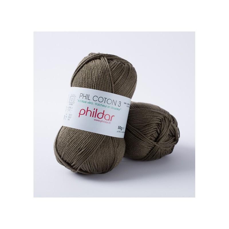 Crochet yarn Phil Coton 3 kaki