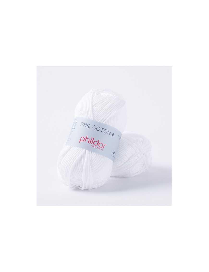 Crochet yarn Phil Coton 4 blanc
