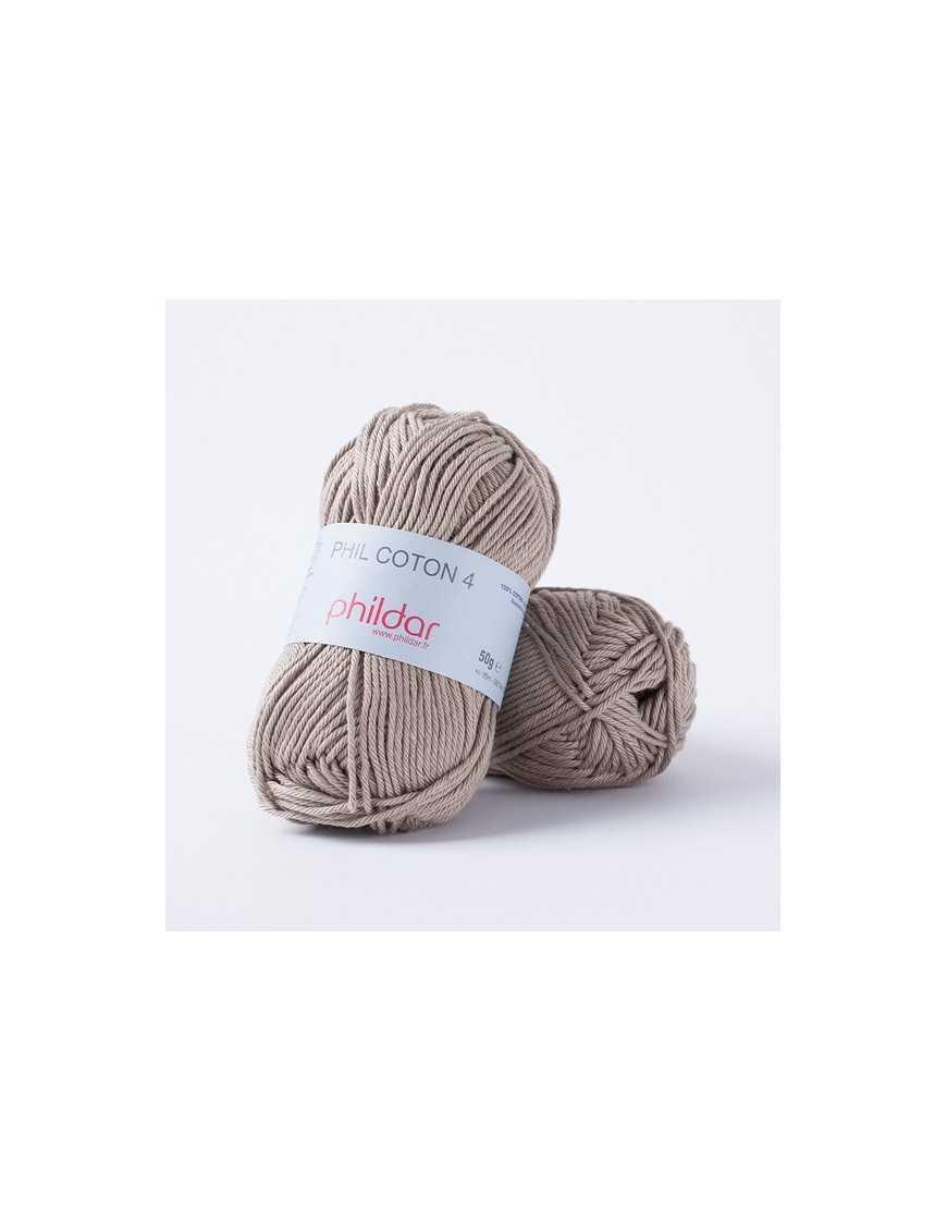 Crochet yarn Phil Coton 4 chanvre