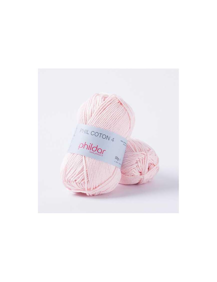 Crochet yarn Phil Coton 4 rosee