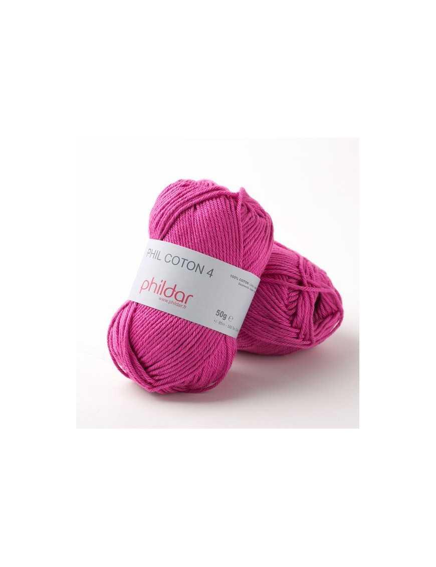 Crochet yarn Phil Coton 4 fuchsia