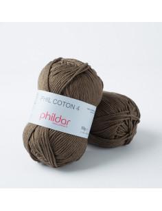 Crochet yarn Phil Coton 4 kaki