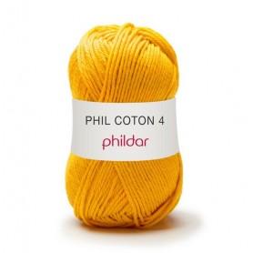 Crochet yarn Phil Coton 4 tournesol