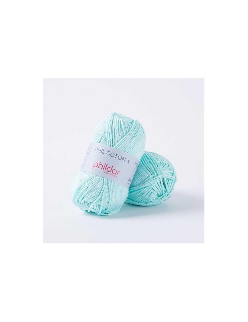 Crochet yarn Phil Coton 4 jade