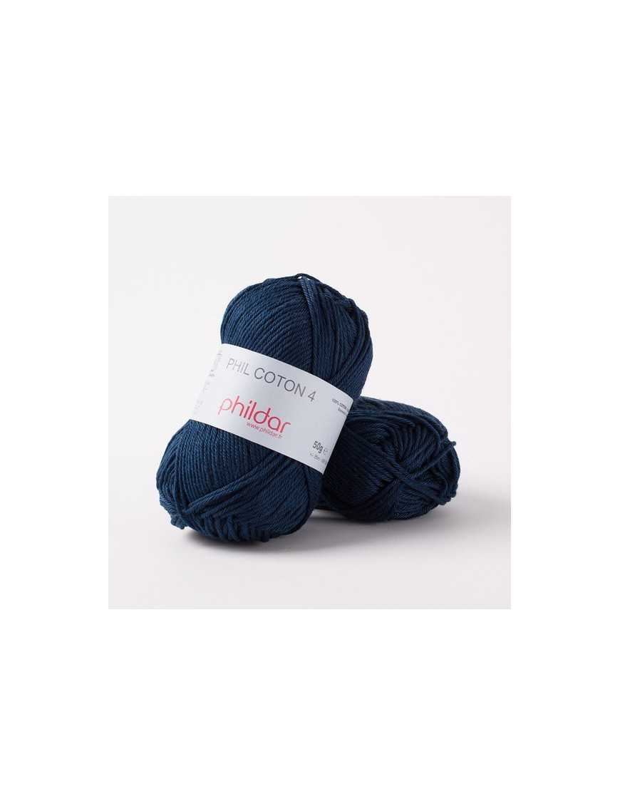 Crochet yarn Phil Coton 4 naval