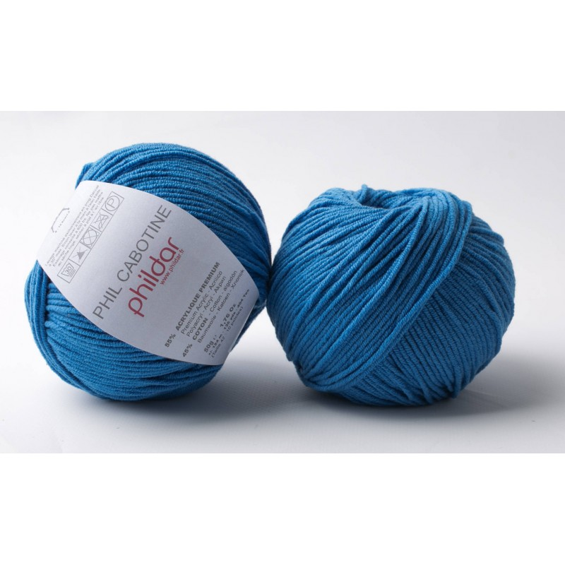 Strickwolle Phildar Phil Cabotine bleuet