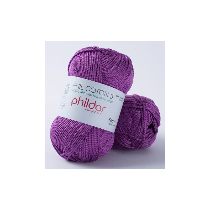 Crochet yarn Phil Coton 3 clematite