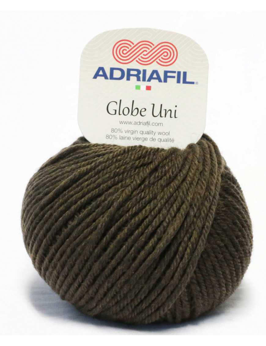 Yarn Globe Uni cocoa brown 16