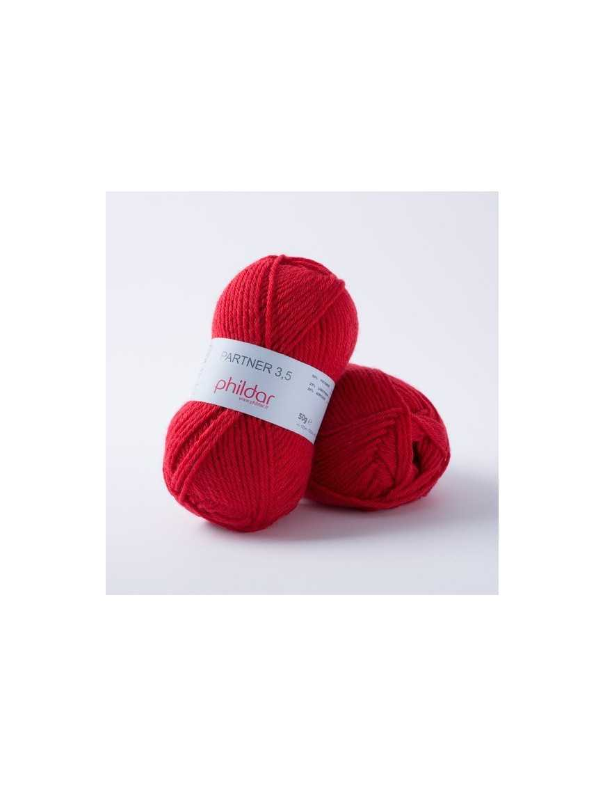 Yarn Phil Partner 3,5 Rouge