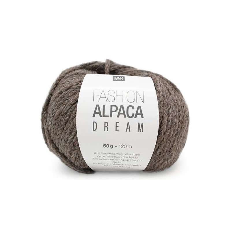 Yarn Rico Fashion Alpaca Dream grey-brown 003