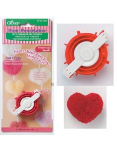 Set à fabriquer des pompons Clover forme de coeur