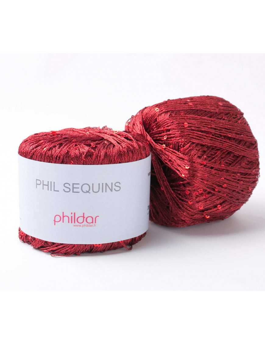 Yarn Phil Sequins Bordeaux