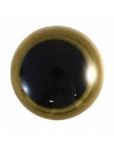 Tieraugen 15 mm Gold
