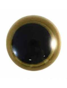 Animal eye 12 mm gold