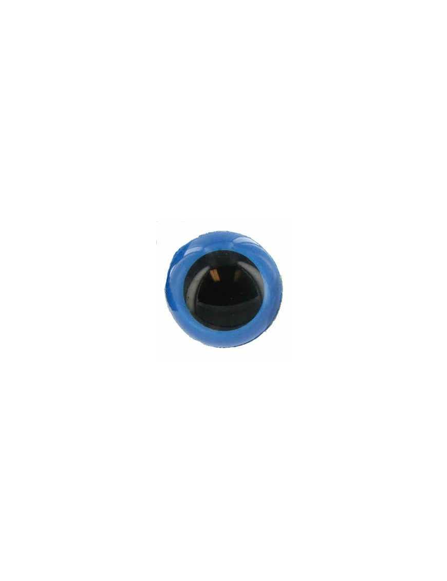 Amigurumi Tieraugen 20 mm Blau