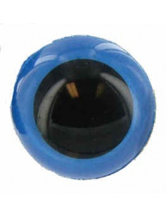 Animal eye 15 mm blue