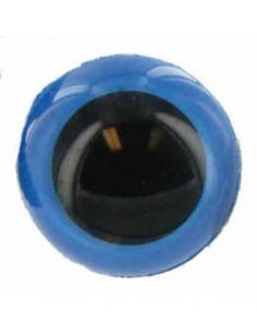 Tieraugen 15 mm Blau