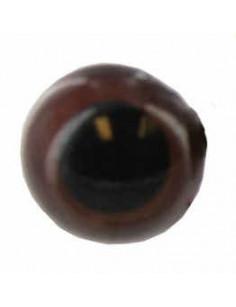 Tieraugen 20 mm Brown
