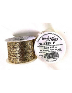 Woolly Hugs Glitzer Gold