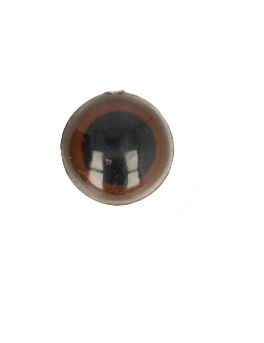 Dierenoog 18 mm bruin