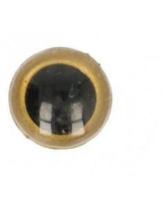Dierenoog 18 mm goud