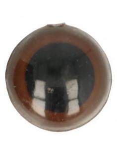 Tieraugen 15 mm Brown