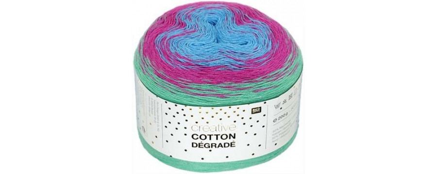 Rico Creative Cotton Dégrade knitting yarn buy online?